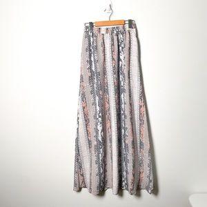 BCBG Generation Floral Maxi Bohemian Skirt